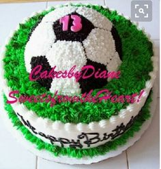 Soccer ball cake for Bella's 9th Birthday