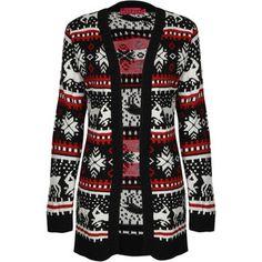 Boohoo.com Aila Reindeer Knit Cardigan