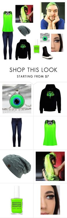 """My JSE outfit"" by alleymonster12 ❤ liked on Polyvore featuring Levi's, Revlon and Converse"