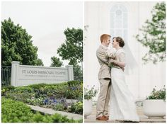 St Louis Mormon Wedding at the Temple. Photo by Abundant Life Photography