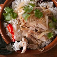 Chicken and Ginger Clay Pot Recipe Recipe 44% RDA of Na, but could be reduced by cutting soy sauce and fish sauce in half