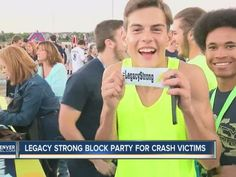 After a tough week at Legacy High School, students came together to help raise money for the victims of a school bus crash involving the football team. The school held a block party in the parking lot Thursday night, to which several hundred people s