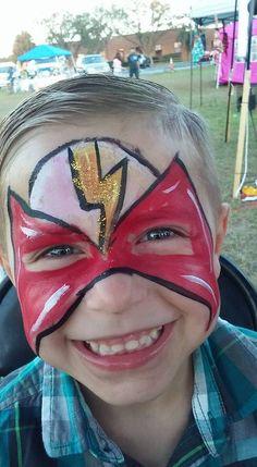 #flashfacepaint   #superherofacepaint   #marioncountyfairfacepaint   #marioncountyfair   #funfacesballooncreationsfacepaint Flash Face Paint, Superhero Face Painting, Carnival, Carnavals