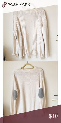 H&M Oversized Beige Sweater | Wool blend, Scoop neck and Vintage