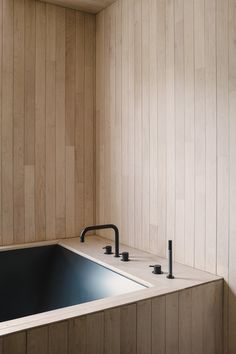Bathroom design in beautiful wood