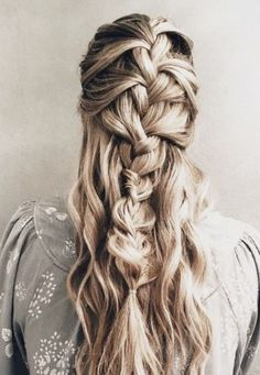 long hair style twisting French braid