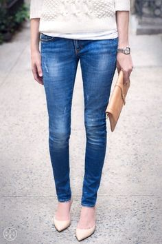 cable knit + jeans