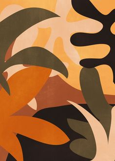Abstract Art Jungle 2 Art Print by ThingDesign - X-Small Abstract Watercolor, Abstract Art, Collage, Wow Art, Minimalist Art, Aesthetic Art, Black Art, Aesthetic Wallpapers, Modern Art