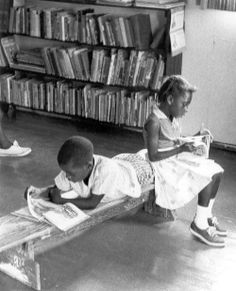 [© Herbert Randall] Reading in the library at the Freedom House in Hattiesburg, Mississippi during Freedom Summer 1964. possibly photo #246 http://www.lib.usm.edu/legacy/archives/m351ph1a.htm