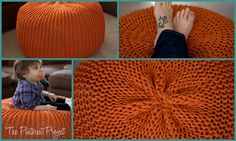 Knitted Poufs{The Pinterest Project} | The CSI Project