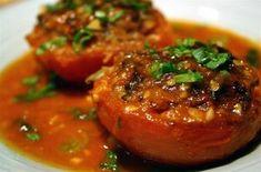 Cà Chua Nhồi (Vietnamese) Tomato Farci Recipe by: Kiki Rice http://kikirice.blogspot.com/2005/03/c-chua-nhi.html