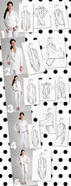 Мульти-обертка Карди,5 способов носить.infinity cardigan
