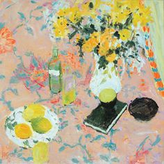 Hugo Grenville- Still Life with Book and Flowers