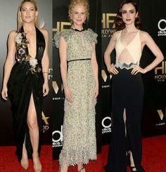 Meus looks favoritos do 20th Annual Hollywood Film Awards, em Los Angeles.⭐ 1.Kate Hudson num belíssimo vestido #marchesa, preto, com decote floral e fenda. 2.Nicole Kidman, num vestido #giambattistavalli floral, lindo e delicado. 3.Lily Collins num belo vestido #davidkoma simples/chic, com uma produção retrô, incrível.✨ #glamourous #katehudson #nicolekidman #lilycollins #fashionstyles #hollywoodfilmawards #losangeles