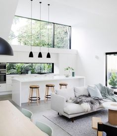 Best Scandinavian Home Design Ideas. 57 Trending Interior Modern Style Ideas For Your Perfect Home This Summer – Cosy Interior. Best Scandinavian Home Design Ideas. Living Room Interior, Interior Design Kitchen, Modern Interior Design, Interior Design Inspiration, Home Decor Inspiration, Interior Architecture, Design Ideas, Decor Ideas, Living Rooms