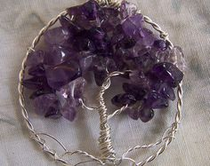 Amethyst Tree of Life necklace pendant with chain - Amethyst Necklace - Amethyst pendant - Tree of Life pendant - February Birthstone