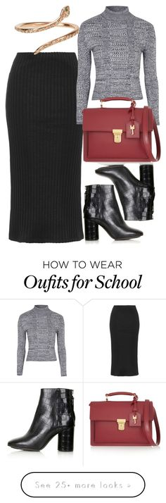 """Untitled #4206"" by style-by-rachel on Polyvore featuring Topshop, Yves Saint Laurent and Ileana Makri"