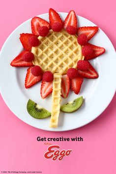 Spring is finally here! It's time to come out of hibernation and stretch your creativity with Eggo Waffles! easter treats for daycare Get Creative with Eggo Baby Food Recipes, Dessert Recipes, Cooking Recipes, Soup Recipes, Recipies, Desserts, Breakfast Dishes, Breakfast For Kids, Eggo Waffles