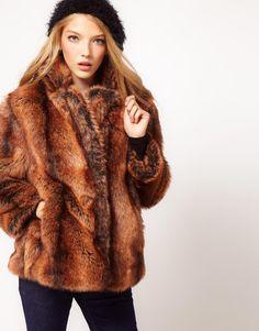 ASOS | ASOS Vintage Swing Fur Coat at ASOS
