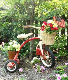Flea Market Garden Containers | flea market gardening pinterest | Gardening / Repurposed Trike ~ Flea ...
