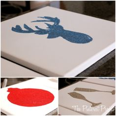 The Pinterest Project: From the Archives: Glitter Silhouette Canvas Art