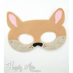 Kangaroo Mask ITH Embroidery Design