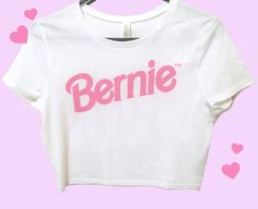 The Original Bernie Barbie ™ 2016 Crop Tee! Are you a Bernie girl in a Bernie woo-o-orld?.. this crop's for you babe! Limited edition get em wh...