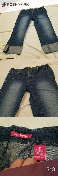 Like new zana di jean Capri pants Like new zana di jean Capri pants says size 7 fit like a 5 Zana Di Jeans