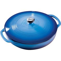 Lodge Color Blue Enamel 3-quart Covered Casserole