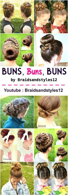 Love a Bun Hairstyle, I think I have a bit of a bun obsession . Which bun updo is your favourite ? Youtube Tutorials : https://www.youtube.com/channel/UC8ouEGIBm1GNFabA_eoFbOQ