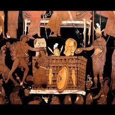 Scene from the Trojan war: the sacrifice of Iphigenia.