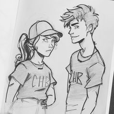 I found some old ink pens and ...i tried...this was the best of many attempts #percyjackson #annabethchase #percabeth