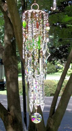 Sweet Earth Antique Crystal Wind Chime by sheriscrystals on Etsy, $239.95