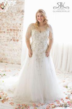 dd1c0172d10 Glamour Plus by Roz la Kelin 2015 Plus-Size Wedding Dress Plus Size Wedding