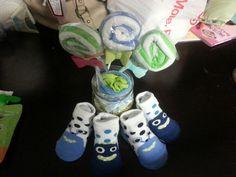 Sock washcloth lollipops