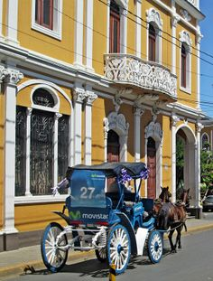 Horse & Carriage Approaching Parque Central, Granada, Nicaragua
