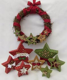 Stamping Moments: Star Box Tutorial and Many Merry Stars Simply Created Kit. Christmas Tree Table Decorations, Christmas Tree On Table, Christmas Card Crafts, Stampin Up Christmas, Merry Little Christmas, Holiday Cards, Christmas Wreaths, Christmas Ornaments, Christmas Ideas