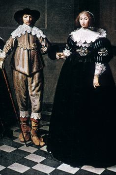 """Bourgomeister Kirk Bak Jacobs and his Family"""" 1625 - Google Search 17th Century Clothing, 17th Century Fashion, 17th Century Art, European Fashion, Modern Fashion, Vintage Fashion, South Indian Jewellery, Gold Jewellery, Classical Period"""