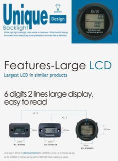 Hot Waterproof Digital Timer Tool Counter Hour Meter For 2//4 Stroke Gas Motor MT