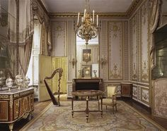 Marie Antoinette's Salon Doré one of the four main rooms of her Petits Appartements in Versailles.