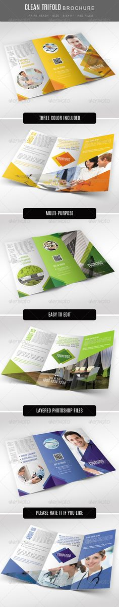 Multi Purpose Tri Fold Brochure - Brochures Print Templates