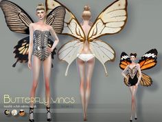 Sims 4 CC's - The Best: Butterfly Wings by S-Club