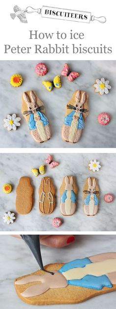 To celebrate the 150th anniversary of Beatrix Potter we're teaching you how to #hand-ice #PeterRabbit #biscuits.