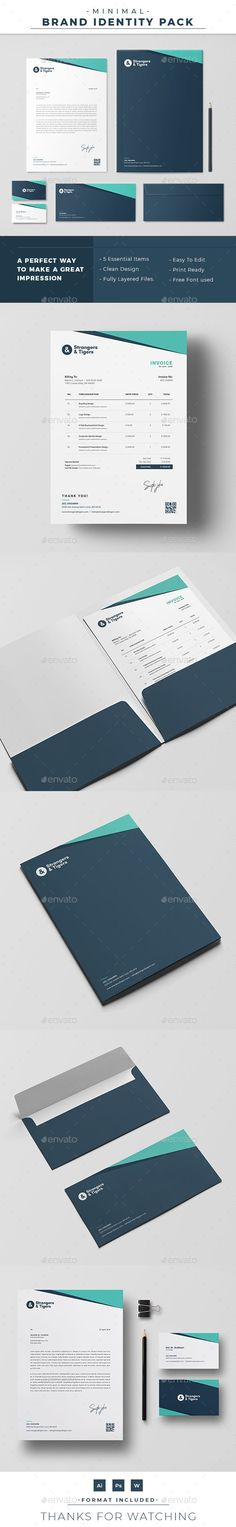Buy Corporate Identity by ExceedCreatives on GraphicRiver. A clean and minimal Corporate Identity for any personal or commercial activitie. Corporate Stationary, Stationary Branding, Corporate Identity Design, Brand Identity Pack, Stationery Printing, Real Estate Flyer Template, Real Estate Flyers, Letterhead Template, Presentation Folder