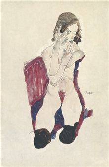 Find artworks by Egon Schiele (Austrian, 1890 - on MutualArt and find more works from galleries, museums and auction houses worldwide. Gouache, Gustav Klimt, Life Drawing, Painting & Drawing, Egon Schiele Drawings, Art Case, Art Moderne, Artist Gallery, Vintage Artwork