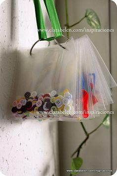 ***1************///vis............////Cómo organizar las manualidades con fundas de CD, bolsas y anillas - Inspiraciones: manualidades y reciclaje
