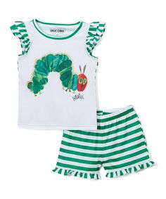 Take a look at this Very Hungry Caterpillar White Pajama Set - Toddler today!