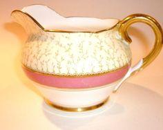 Paragon Regency Vintage China Tea set milk jug pink gold gilding