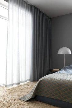 Choose block out curtains and enjoy an extra level of light control if you have a bedroom. Blockout linings can help you enjoy a better night's slee. Block Out Curtains, Floor To Ceiling Curtains, Home Curtains, Curtains Living, Modern Curtains, Black Out Curtains Bedroom, Window Treatments Living Room Curtains, Blinds For Windows Living Rooms, Elegant Curtains