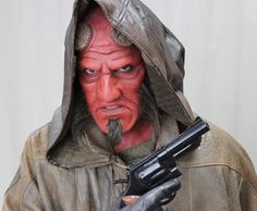 Make-up Effects Group: Prosthetics - Clowns & Demons Hellboy Costume, Costume Makeup, Halloween Night, Creature Design, Creatures, Make Up, Costumes, Special Effects, Clowns